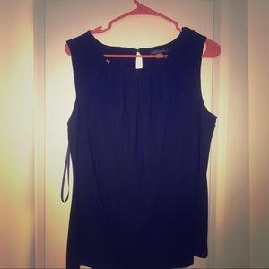 Tommy Hilfiger black shell blouse. Size L.